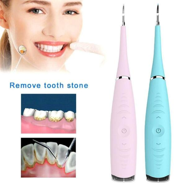 Electric Sonic Dental Scaler Tartar Calculus Plaque Tooth Tool Remover Stai P9J4