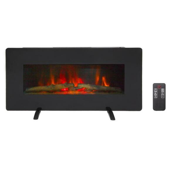Zokop 1400W Wall Mount 36quot; Electric Fireplace Heater Flame Timer Control