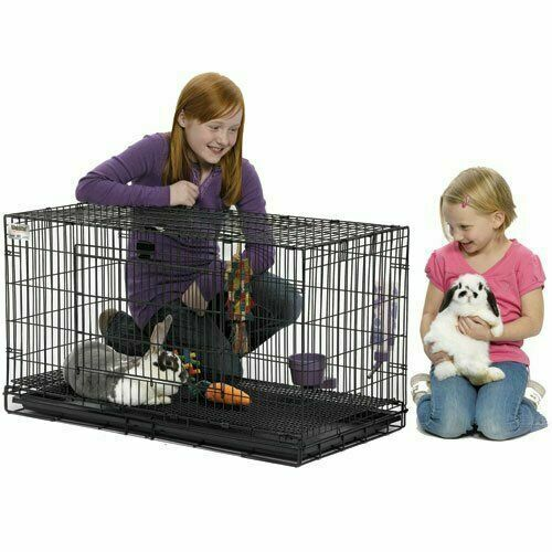 Rabbit Cage Outdoor Hutches Indoor Large Folding Slide Easy Latch Durable Pet $109.95