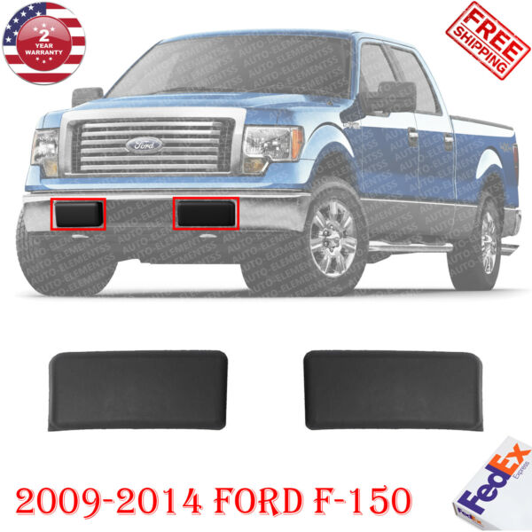 Front Bumper Pad Guard Insert Textured Black Pair RH+LH For 2009-2014 Ford F-150