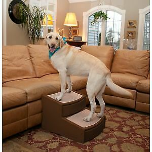 Pet Gear Easy Step II Extra Wide stairs dogs cats up to 200 lbs Chocolate