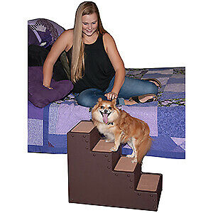Pet Gear Pet Step 4 Pets stairs dogs cats up to 50 lbs Chocolate