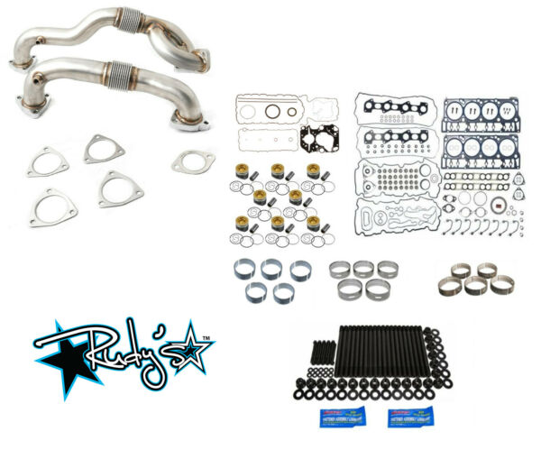 Rudy's Engine Overhaul Kit w Up Pipes 2008-2010 Ford 6.4 Powerstroke Super Duty