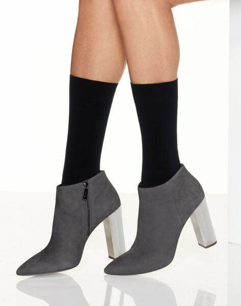 Hanes Opaque Mid Calf Sock 2-Pack Perfect X-Temp Dark Flawless Sheer toe Comfort