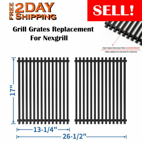 2 Pack Grill Grate 17 inch Cooking Grid Replacement Parts For Nexgrill Kenmore
