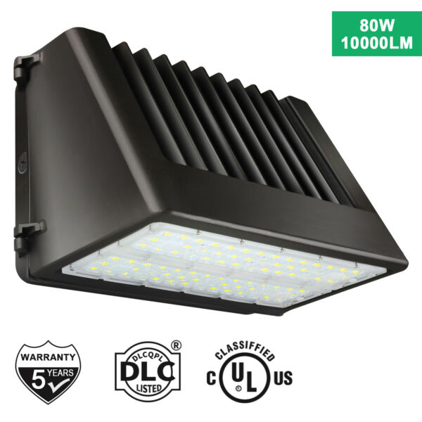 LED Full Cut off Wall Pack 80W 100W Area Light Fixture IP65 Outdoor Wall Lamp $105.99