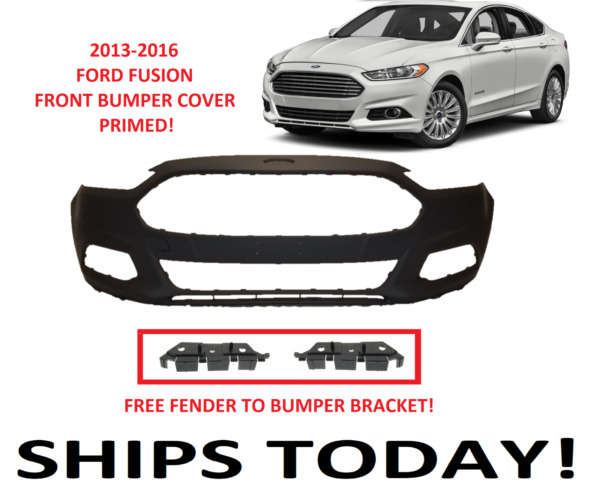 2013 2014 2015 2016 FORD FUSION FRONT BUMPER COVER PRIMED NEW WITH FREE BRACKETS