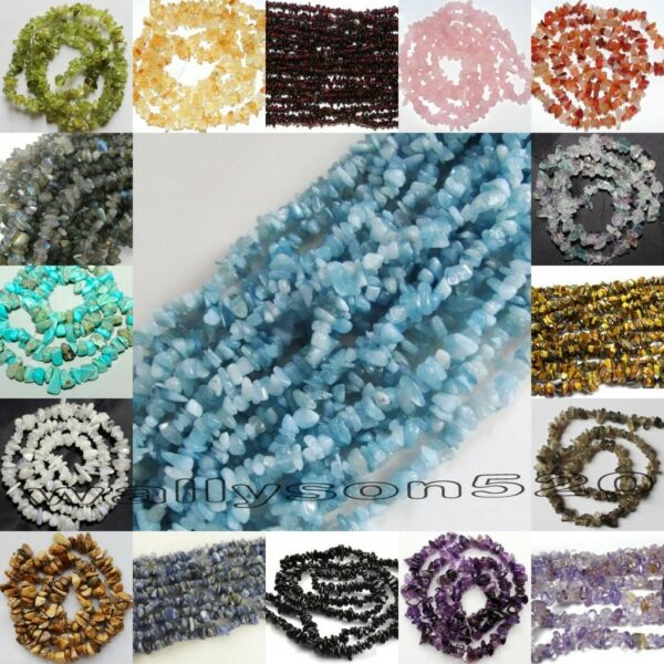 Natural 5-8mm Freeform Chips Jewelry Making loose gemstone beads strand 16