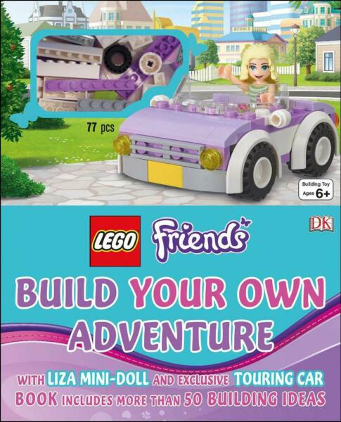 Build Own Adventure Lego Friends Lisa Minifigure Touring Car Book 77 Bricks New