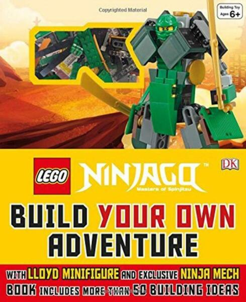 Build Own Adventure Lego Ninjago Green Lloyd Minifigure Ninja Mech Book 74 Brick