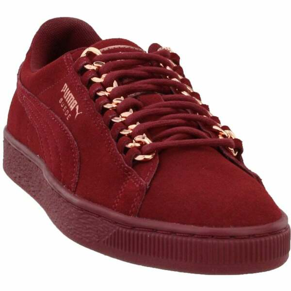 Puma Suede Classic Chain Sneakers Casual    - Burgundy - Womens
