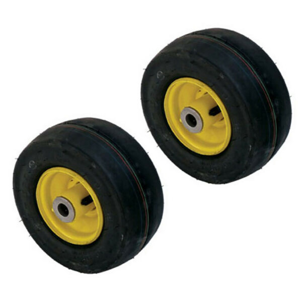 2 Fits John Deere Mower AM115510 Pneumatic Tire Front Caster Wheel 9x3.50 4