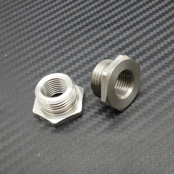 18mm to 12mm Stainless Adapters Reduce 02 O2 Sensor Ports Bungs For Harley Plug $10.33