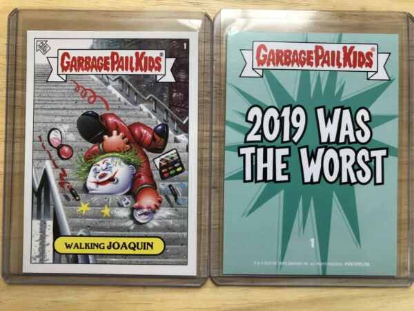 TOPPS Garbage Pail Kids 2019 Was The Worst Walking JOAQUIN The Joker Sp 1120