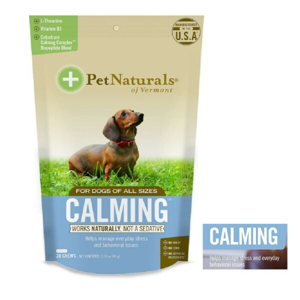 Dog Calming Chews Stress Relief Anxiety Behavior Support Pet Calm $12.99