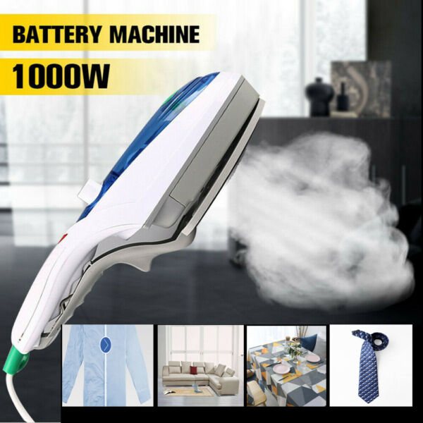 1000W Electric Steam Iron Handheld Fabric Clothes Laundry Steamer Brush Travel