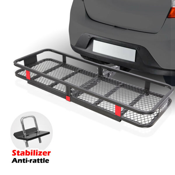 New 60quot; Folding Hitch Mount Cargo Carrier Basket Luggage Rack for Chevrolet SUV $199.99