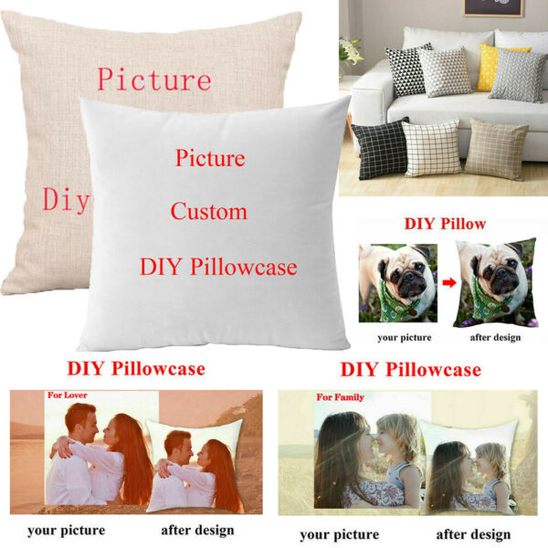Custom Cushion Case Personalised Printed Photo Custom Pillow Case Cover Gift $4.99