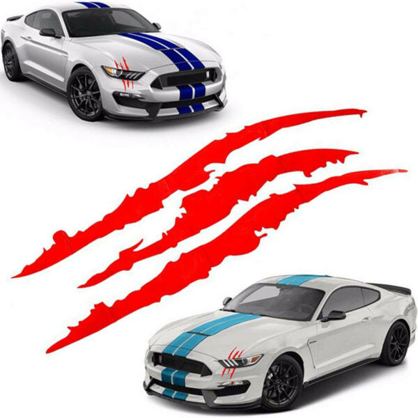 Pair Claw Scratch Mark Sticker Animal Decal Dinosaur Blood Monster For Truck Car $7.20