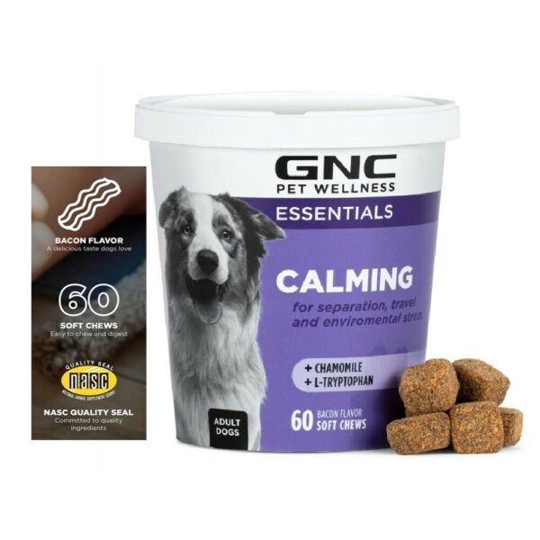 Dog Calming Chews Anxiety Stress Relief Behavioral Support Natural Flavored $16.98