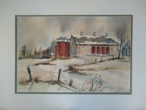 Watercolor Landscape Painting Listed Pennsylvania Artist Pearl Slobodian