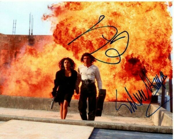 Antonio Banderas and Salma Hayek Signed Autographed 8x10 Desperado Photograph