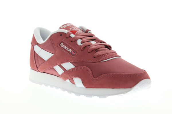 Reebok Classic Nylon DV5807 Womens Pink Lace Up Low Top Sneakers Shoes