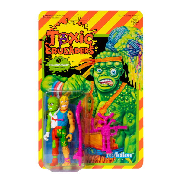 Headbanger Toxic Crusaders Super 7 ReAction Action Figure New
