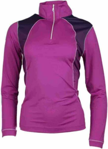 Page & Tuttle Women's Mock Neck Pullover  Casual Golf  Outerwear Pink Womens -