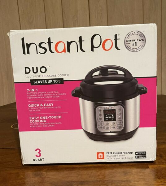 Instant Pot Duo Mini 7 in 1 Electric Pressure Cooker Slow Rice Cooker 3 Qt $57.99