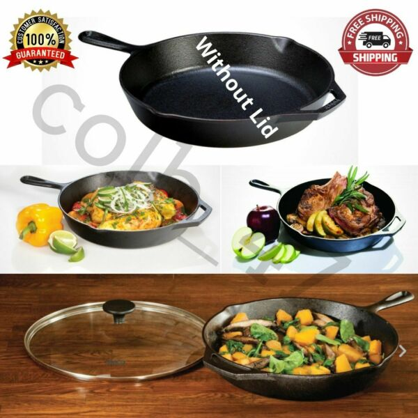 Lodge Pre Seasoned 12 Inch. Cast Iron Skillet Frying Pan With Assist Handle