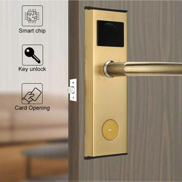 Smart Keyless Electronic Card Door Lock Home Security Entry Battery Powered New
