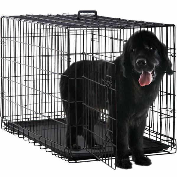 Extra Large Dog Crate Kennel XXL XL Huge Folding Pet Wire Cage Giant Size Breed