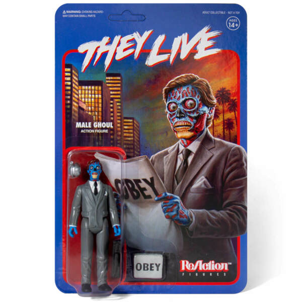Male Ghoul They Live Super 7 ReAction Action Figure New