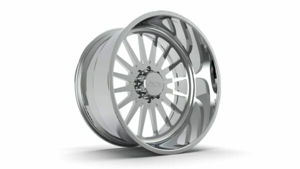 (4) 24x14 JTX Forged Polished Silencer Wheels For Chevy GMC Ford Dodge Toyota