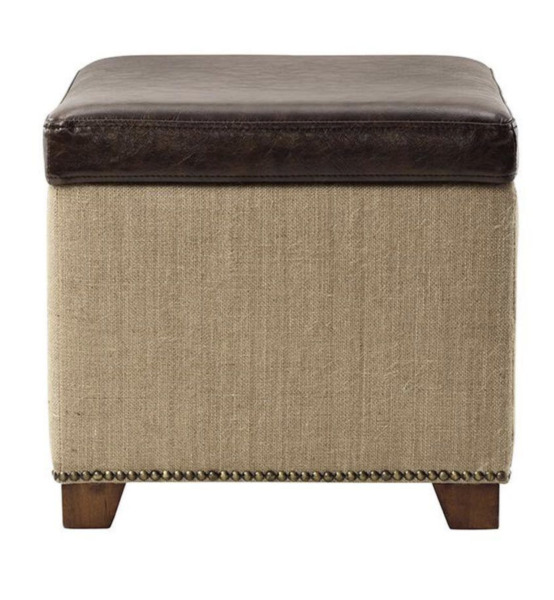 Ethan Brown Storage Ottoman by Home Decorators Collection