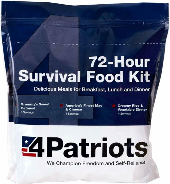 4Patriots 72-Hour Food Supply Kit - Survival - Emergency 16 Servings