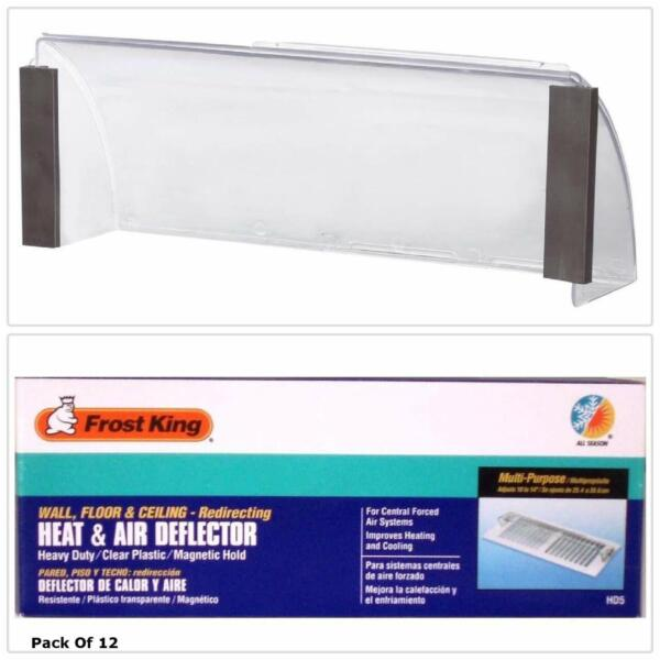2 Pack Air Vent Heat Cold Deflector Wall Floor Register Vent Magnetic Cover