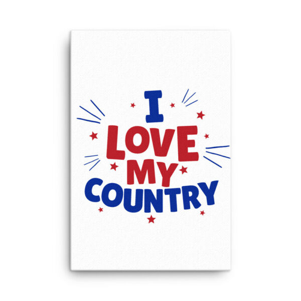 I Love My Country Canvas Art