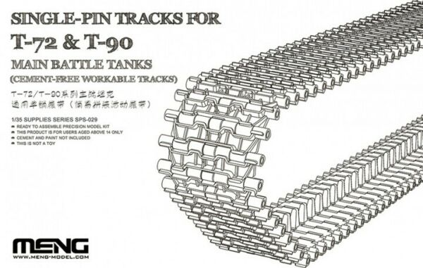 Meng Models 135 Single-Pin Cement-Free Workable Tracks for T-72 and T-90 MBT