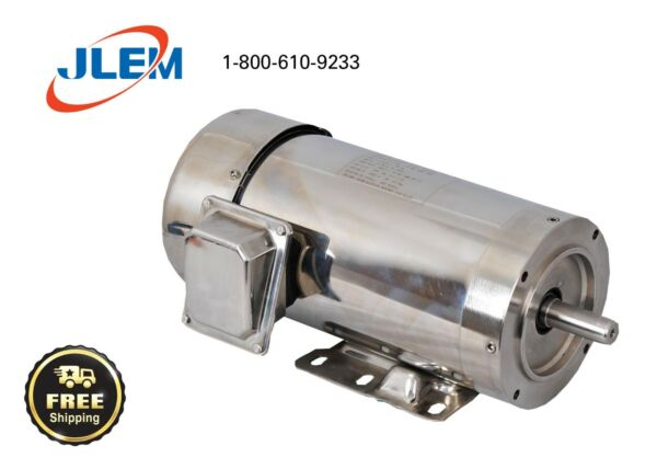 2 HP 3600 RPM 3 PHASE STAINLESS STEEL ELECTRIC MOTOR 56C FREE SHIPPING $354.68