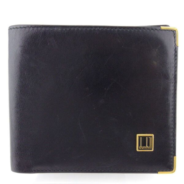 dunhill wallets logo plate leather Auth USED Q594 $184.80