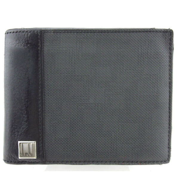 dunhill wallets Dee Eight D8 gray gray PVC � leather Auth USED T18319 $89.60