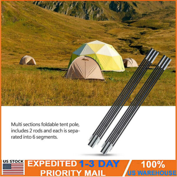 Ultralight Fibreglass Tent Poles Camping Travel Replacement Support Bar 7mm NEW