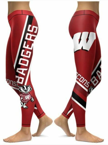 Wisconsin Badgers Small to 2X-Large Women's Leggings