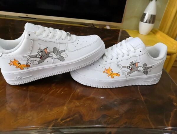 Custom Tom And Jerry Air Force Ones