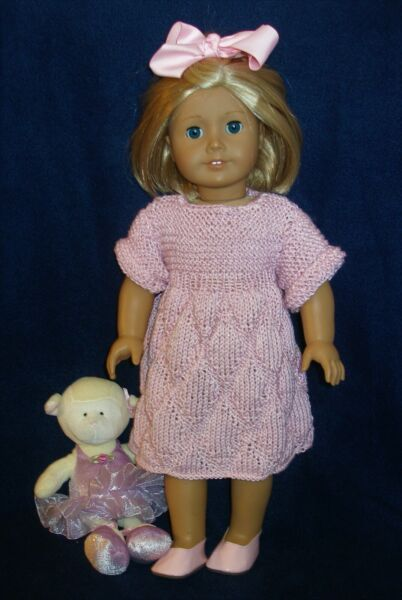 clothes for 18 inch dolls hand knit dress for spring and summer