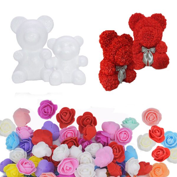 100 144Pc Artificial Foam Mini Roses Head Small Flowers Wedding Home Party Decor