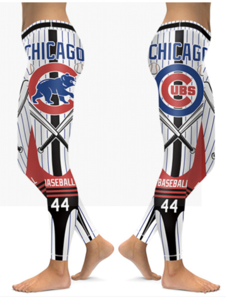 Chicago Cubs Small 2XL Women#x27;s Leggings