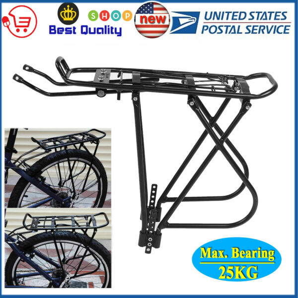 Bicycle Mountain Bike Rear Rack Seat Post Mount Aluminum Pannier Luggage Carrier $17.33
